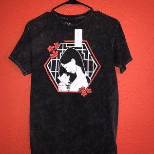 NWT Mulan Honor Tour Women's Small Black Tshirt